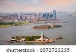 sunny evening in new york....   Shutterstock . vector #1072723235