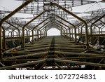 soviet horizont radar station ... | Shutterstock . vector #1072724831