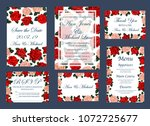 save the date invitation cards... | Shutterstock .eps vector #1072725677