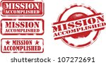 mission accomplished... | Shutterstock .eps vector #107272691