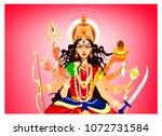 goddess durga vector ... | Shutterstock .eps vector #1072731584