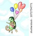 chameleon in military uniform...   Shutterstock .eps vector #1072754771