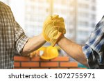 building teamwork and people... | Shutterstock . vector #1072755971