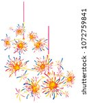 japanese sparkler vector... | Shutterstock .eps vector #1072759841
