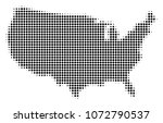 usa map halftone raster icon.... | Shutterstock . vector #1072790537