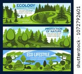 nature protection banner for... | Shutterstock .eps vector #1072792601