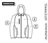 windbreaker jacket vector design   Shutterstock .eps vector #1072799951