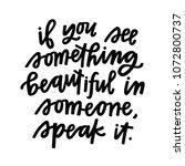 speak beauty out | Shutterstock .eps vector #1072800737