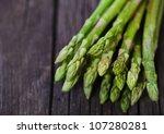 Bunch Of Fresh Green Asparagus...