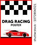 racing car poster | Shutterstock .eps vector #1072806521