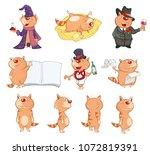 set of vector cartoon... | Shutterstock .eps vector #1072819391