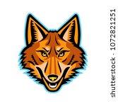 mascot icon illustration of... | Shutterstock .eps vector #1072821251