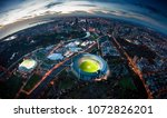 melbourne aerial skyline | Shutterstock . vector #1072826201