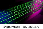 keyboard gamer with colorful... | Shutterstock . vector #1072828379
