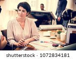 diverse business people working | Shutterstock . vector #1072834181