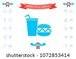hamburger or cheeseburger ...   Shutterstock .eps vector #1072853414