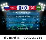 russia versus saudi arabia... | Shutterstock .eps vector #1072863161