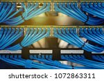 lan cable wiring and networking ... | Shutterstock . vector #1072863311