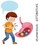 a boy stomach ache and full off ...   Shutterstock .eps vector #1072865141