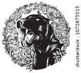animal tattoo art background | Shutterstock .eps vector #1072875515