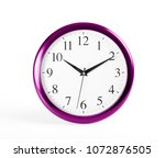 classic wall clock on a white... | Shutterstock . vector #1072876505