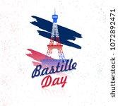 happy bastille day celebration... | Shutterstock .eps vector #1072892471