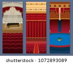 theater stage with curtains... | Shutterstock .eps vector #1072893089