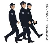 police officer  vector | Shutterstock .eps vector #1072897781