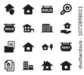 flat vector icon set   house... | Shutterstock .eps vector #1072898021