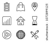 set of 9 simple editable icons... | Shutterstock .eps vector #1072899125