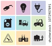 set of 9 simple editable icons... | Shutterstock .eps vector #1072907891