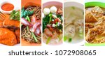 malaysia chinese food is one of ...   Shutterstock . vector #1072908065