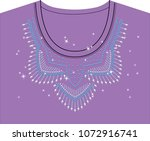 abstract beautiful applique... | Shutterstock .eps vector #1072916741