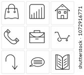 set of 9 simple editable icons... | Shutterstock .eps vector #1072916771