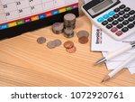 invoice past due final notice... | Shutterstock . vector #1072920761