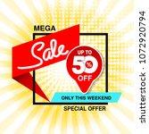 vector big sale banner. mega... | Shutterstock .eps vector #1072920794