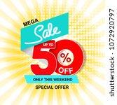 vector big sale banner. mega... | Shutterstock .eps vector #1072920797