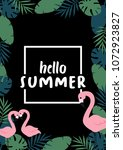 hello summer banner with... | Shutterstock .eps vector #1072923827