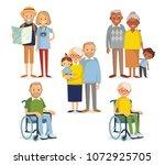 set of senior people   Shutterstock .eps vector #1072925705