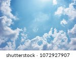 blue sky clouds background | Shutterstock . vector #1072927907