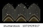 abstract beautiful applique... | Shutterstock .eps vector #1072929317