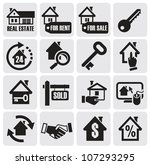 real estate icons. | Shutterstock .eps vector #107293295