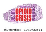 opioid crisis word cloud... | Shutterstock . vector #1072933511
