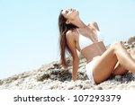portrait of beautiful young... | Shutterstock . vector #107293379