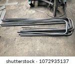 the black steel pipe was... | Shutterstock . vector #1072935137
