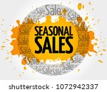 seasonal sales words cloud ... | Shutterstock . vector #1072942337