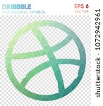 dribbble polygonal symbol ...
