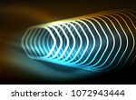 outline hexagons  glowing... | Shutterstock .eps vector #1072943444