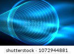 circular glowing neon shapes ... | Shutterstock .eps vector #1072944881