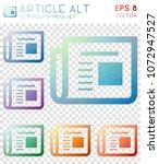 article alt geometric polygonal ... | Shutterstock .eps vector #1072947527